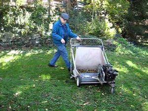 Power lawn sweeper