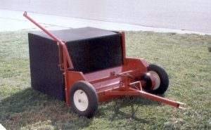 Example tow behind lawn sweeper