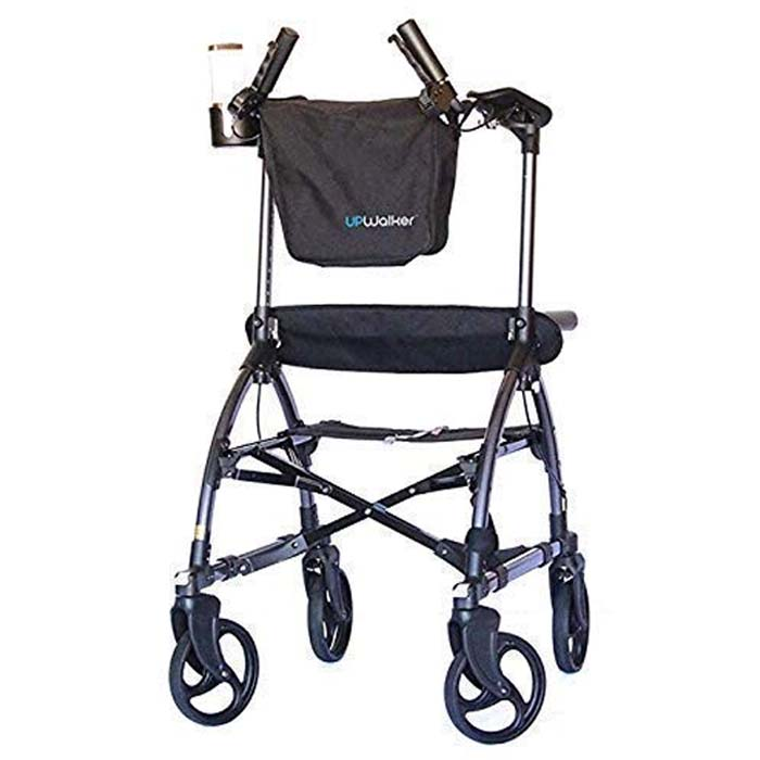UPWalker Original Upright Walker - Size Standard (Stand Up Rolling Mobility Walking Aid with Seat)